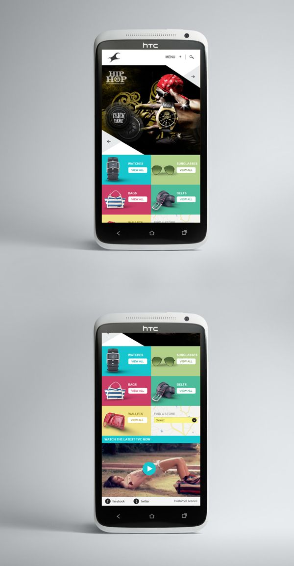 Fastrack Mobile Site by 22feet, via Behance