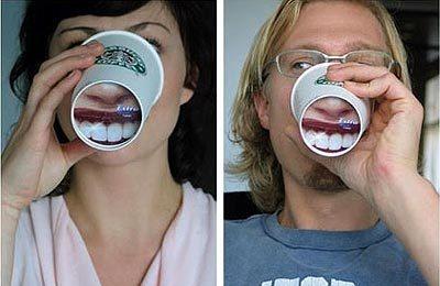 Trident in Starbucks; Coffee; teeth; Advertising; Publicidad; Creatividad