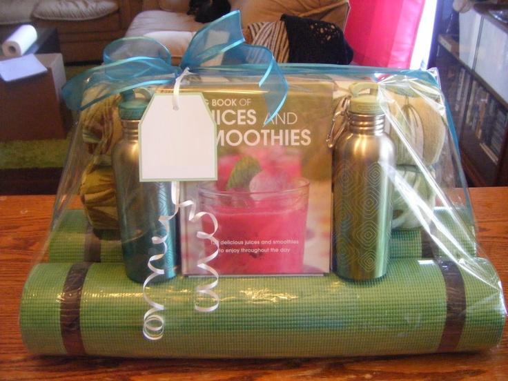 Yoga gift basket