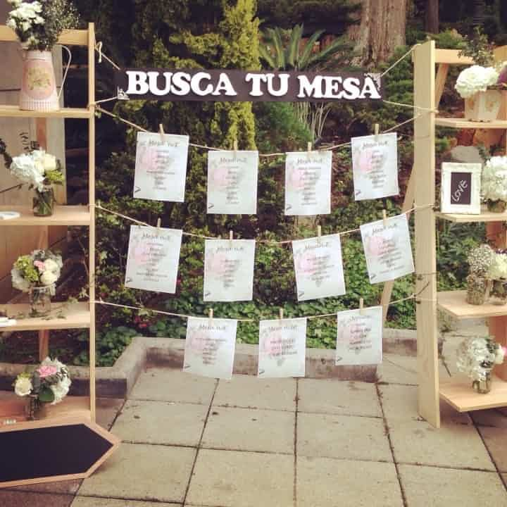 Seating plan: 10 magníficas ideas de decoración para boda