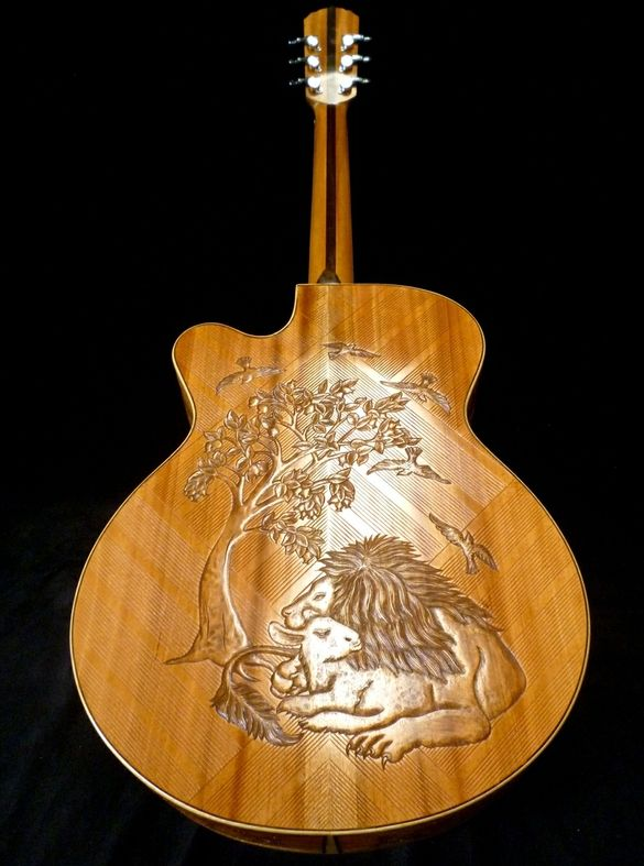 """Blueberry """"Christian"""" Motif Acoustic Guitar by Blueberry Musical Instruments Inc."""