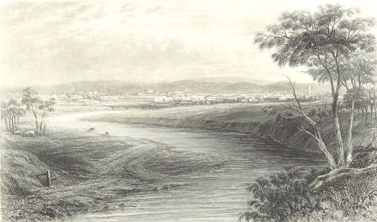 Adelaide from the River Torrens, South Australia 1873