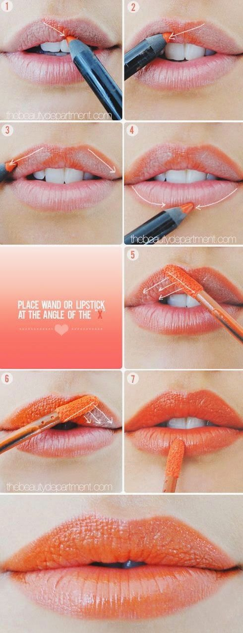 Cupid's Bow Lip Trick