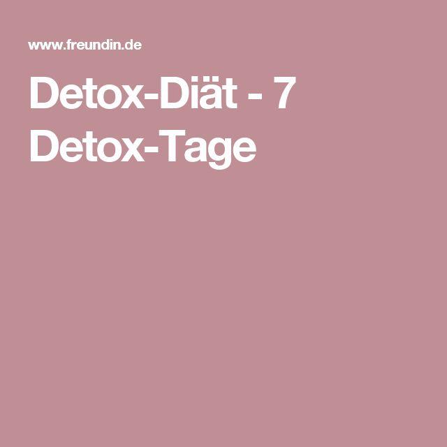Detox-Diät - 7 Detox-Tage
