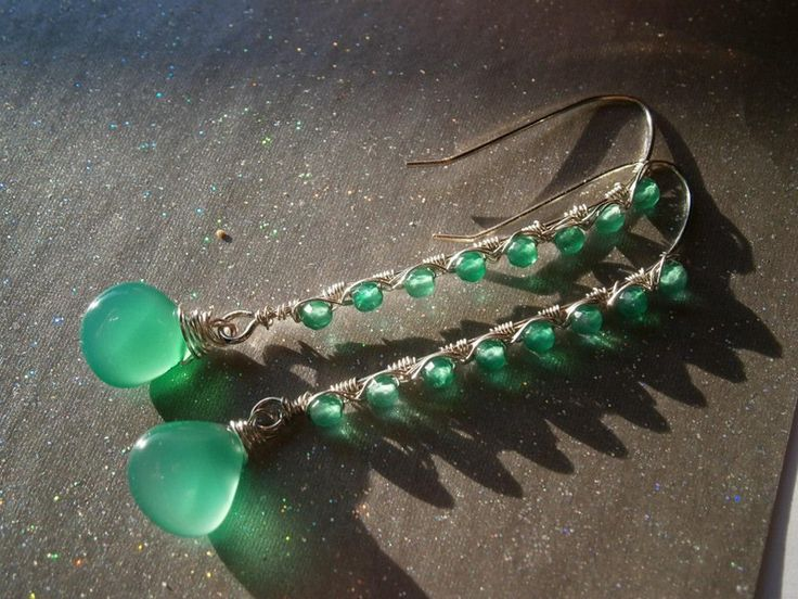 Ohrringe,smaragdgrün,Onyx,Tropfenohrringe von kunstpause auf DaWanda.com