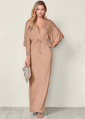 8f3942825b2 Venus Women s Kimono Sleeve Maxi Dress