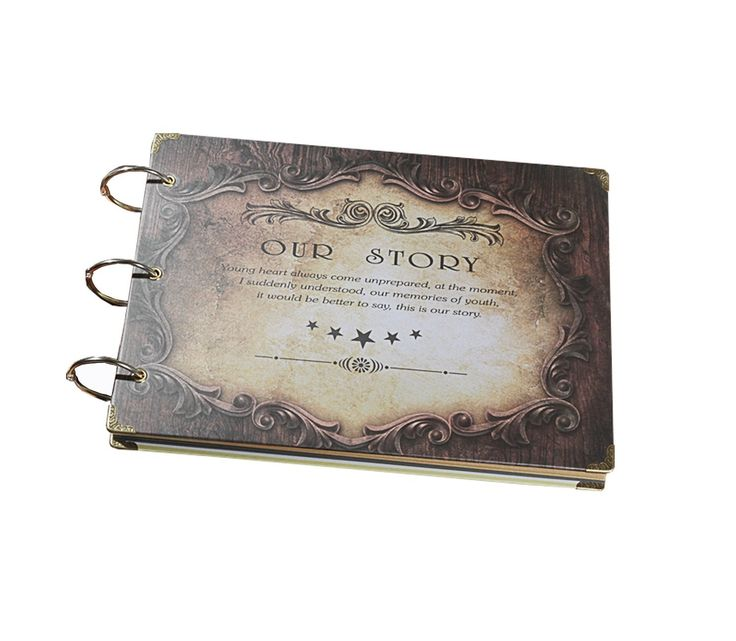 Amazon.com: Timfany Scrapbook Photo Albums, Anniversary Wedding Handmade Bonded Travel DIY Photo Albums Recording Our Story for Storing Photos: Home & Kitchen