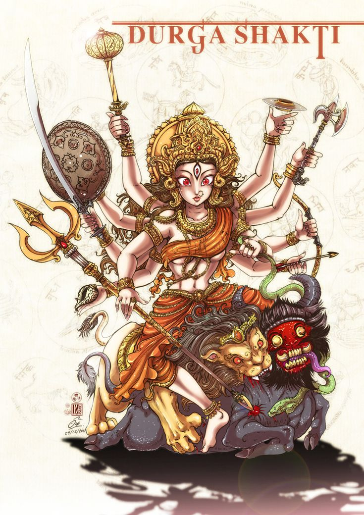 Durga sharkti   Hindu Goddess.