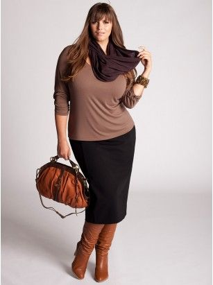 plus size: Work Clothing, Style, Curvy Girls, Plus Size Fashion, Fall Outfits, Pencil Skirts, Work Outfits, Wear, Boots