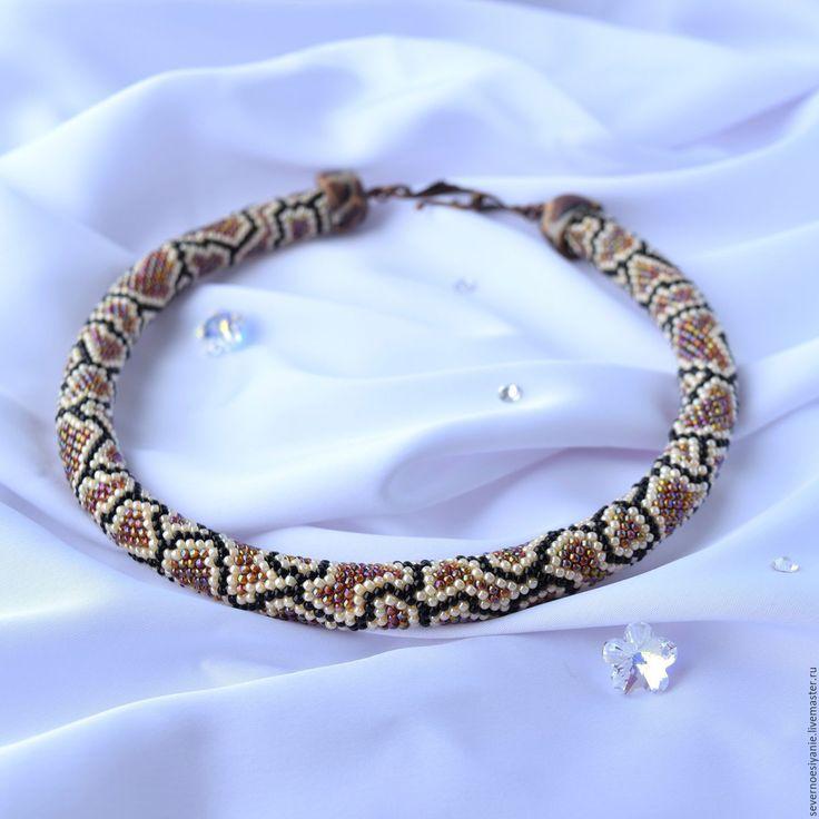 Купить Жгут бисерный Как у змейки - бисер японский, бижутерия ручной работы, бижутерия из бисера