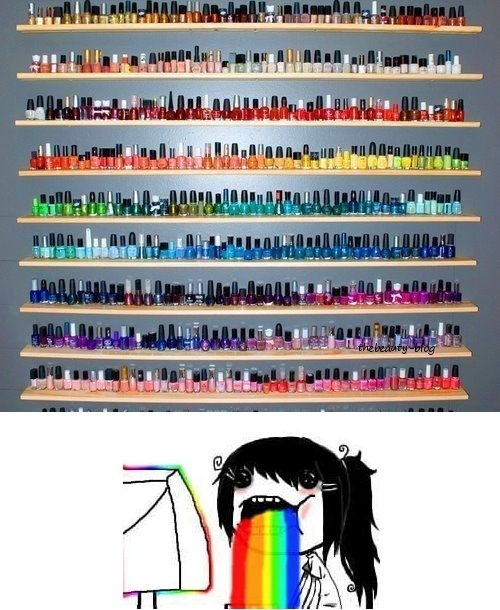 One day ill have a collection like this :) nails