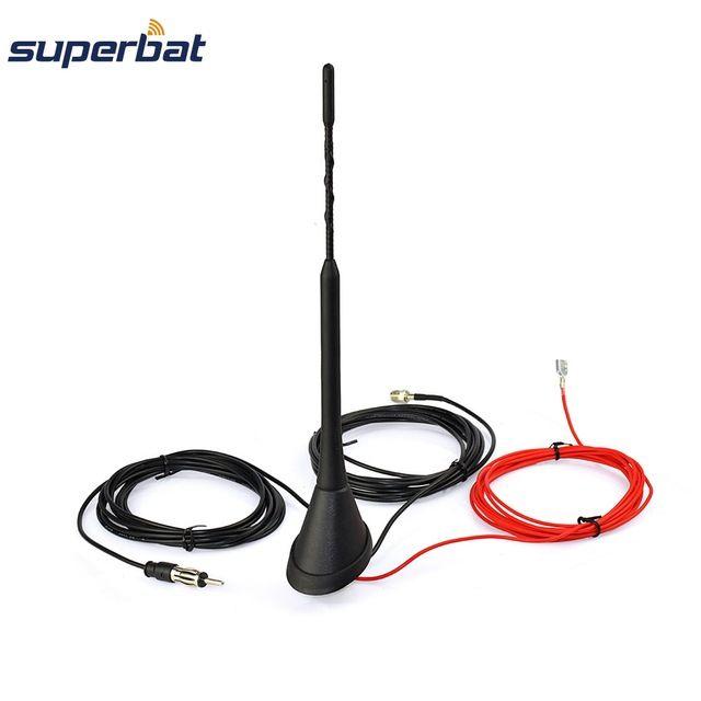 Superbat Universal Roof Mount Digital Dab Antenna With Amplifier For Dab Dab Am Fm Car Radio Automobile Aerial Fme Connector Review Car Radio Superbat Antenna