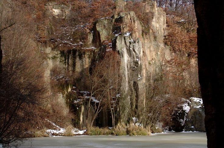 Megyer-hegyi tengerszem (at winter), Sárospatak, Hungary