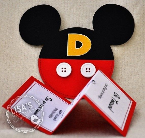 RESERVED for Lauren Mickey Mouse Birthday by LisasHandmadeCards, $82.50