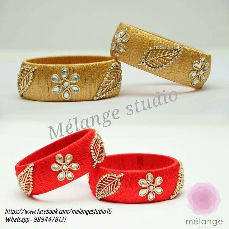 leaf design on bangles
