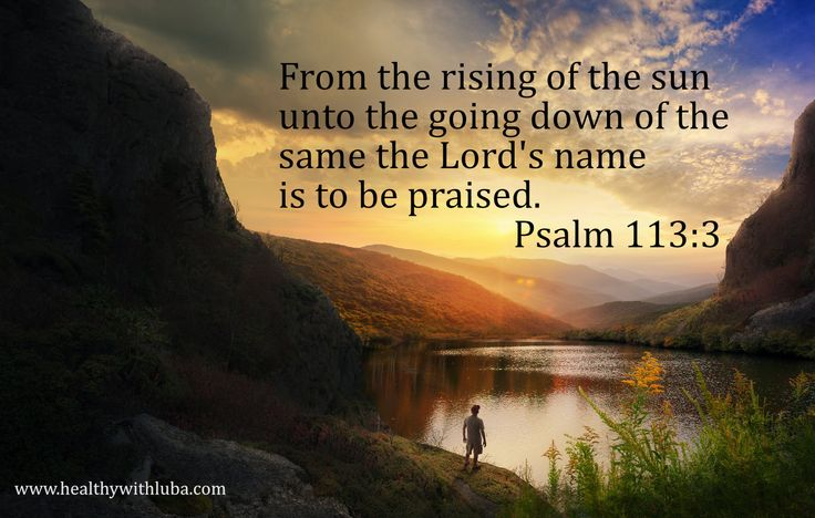 From the rising of the sun unto the going down of the same the Lord's name is to be praised.   Psalm 113:3  #quote #Psalm #inspiration