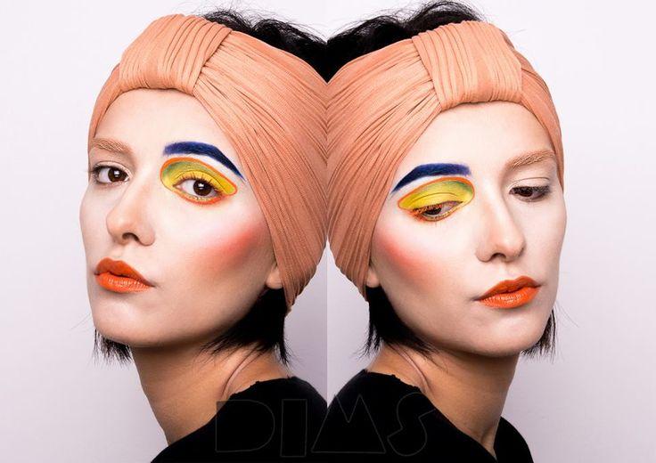Bright creative color make-up Look created by Diana Ionescu, makeup artist and trainer @ Diana Ionescu Makeup Studio, Bucharest based Make-up School  www.dimakeupstudio.ro https://www.facebook.com/dimakeupstudio/