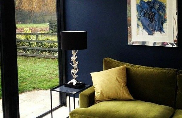 tolle dunkel blau wandgestaltung wohnideen wandfarben dunkel