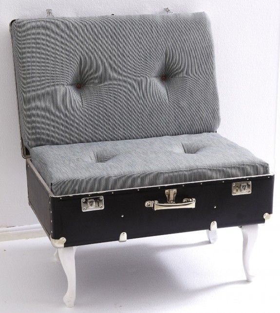 Fertig ist der Vintage-Koffersessel. English ( a finished vintage suitcase chair)