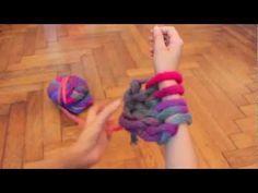 Manta de lana XXL tejida con los brazos   Manualidades