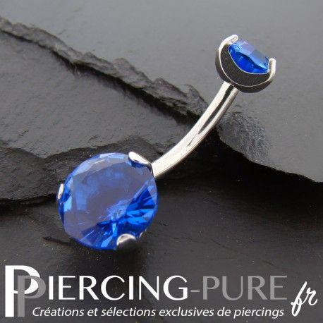 https://piercing-pure.fr/p/83-piercing-nombril-cristaux-bleus-griffes.html #piercing #piercingnombril #piercingstrass #navelpiercing #piercingpierre #piercingbleu