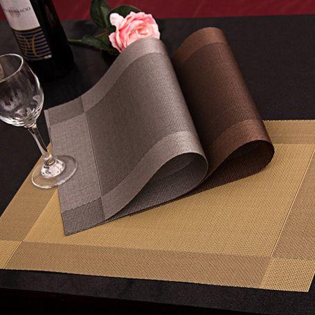4 Unids/lote moda Mantel pvc comedor estera de tabla pastillas de disco cuenco posavasos pad mantel a prueba de agua almohadilla antideslizante pad