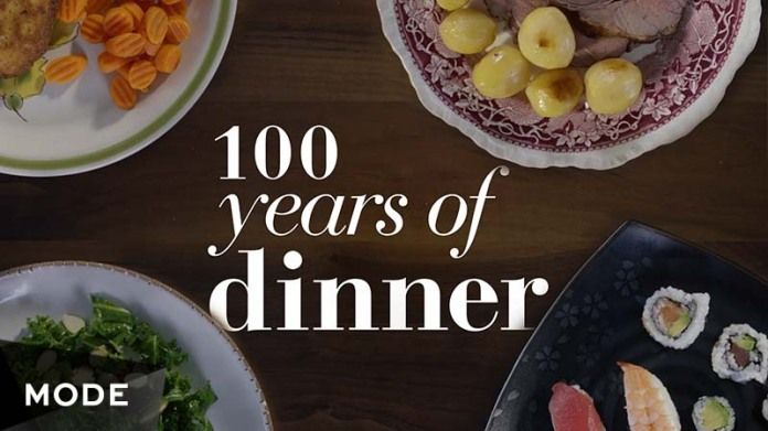 Foodie fans, this one's for you! Whether you lean toward 1915-style roast beef and franconia potatoes, or if 2015's kale craze suits your taste, this look at food over the past century will satiate your palate. Dinner is served.