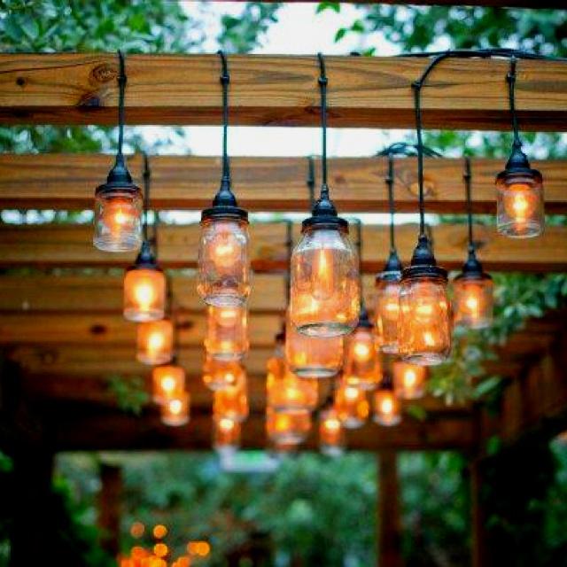 Love this mason jar light idea.