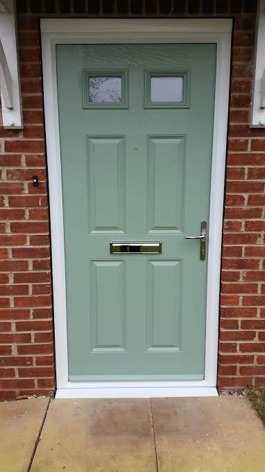 4 panel 2 square glazed composite front door in chartwell for Door 2 door rotherham
