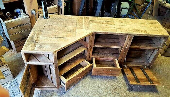 Wood Pallet Homemade Furniture Ideas 9 Pallet Furniture Tv Stand