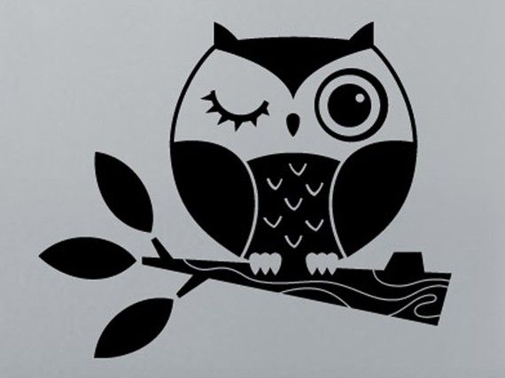 Macbook owl decal