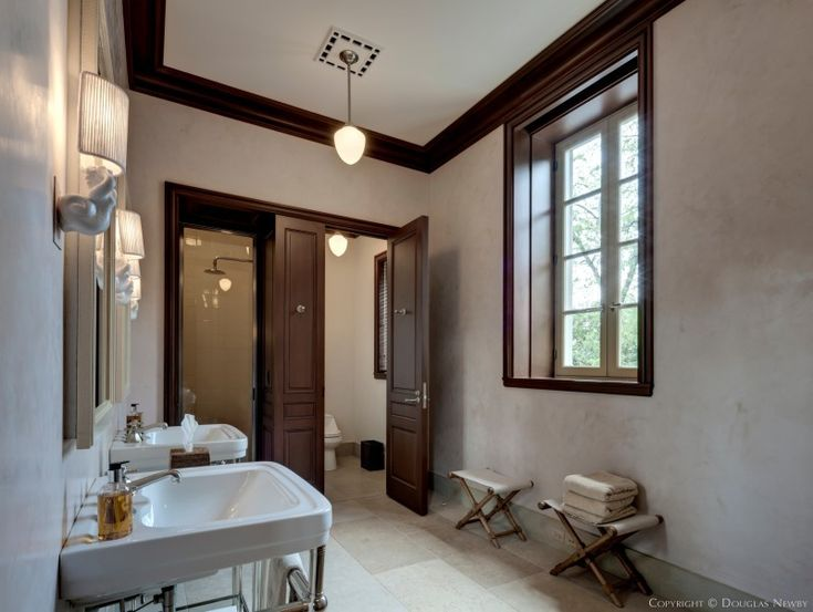 Maurice Fatio Designed Significant Home - Preston Hollow Pool House Bathroom