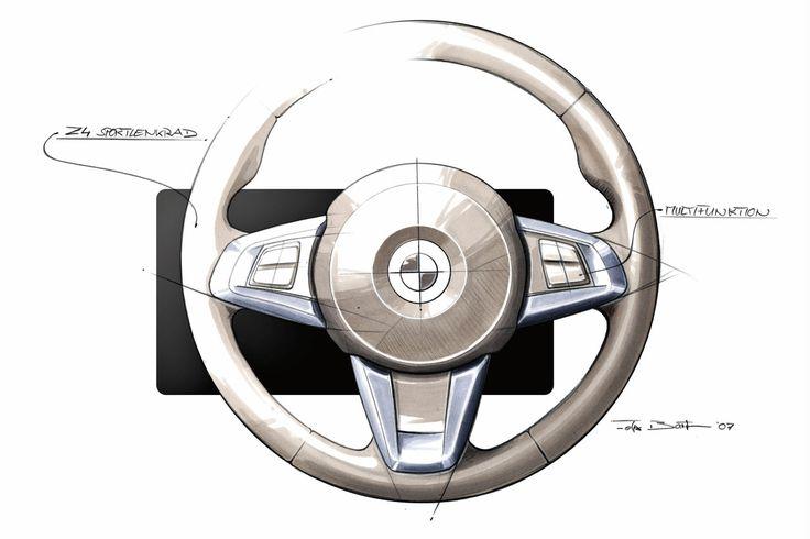 BMW Z4 Interior Design Sketch - Car Body Design