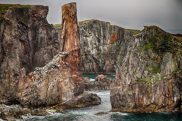 Sea stack in Spillars Cove, Newfoundland, Canada | by Jörg Raddatz, via 500px.