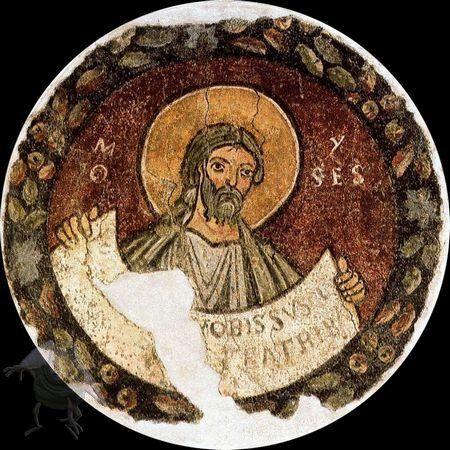Scuola romana - Profeta Mosè - affresco staccato - 1120-30 - Pinacoteca Vaticana