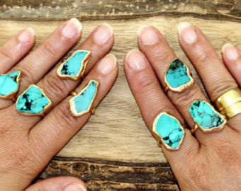 Ruwe opaal Ring ruwe stenen Ring stapelen ringen stapelbare
