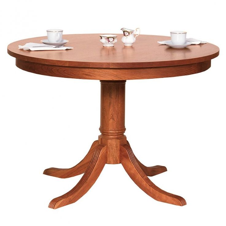Duncan phyfe round pedestal dining table solid wood for Solid wood round dining room table
