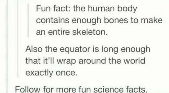 fun science facts clean funny