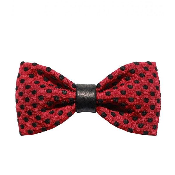 Zuzu Kim Bordeaux Brocade Bow Tie With Black Polka Dots ($220) ❤ liked on Polyvore featuring accessories, hair accessories, bows, hair, ties, bordeaux, hair bow accessories and black hair accessories