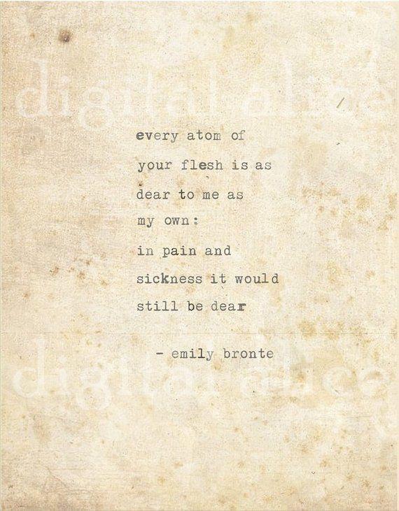 Pin by Danitza Galdámez on Books   Emily bronte quotes