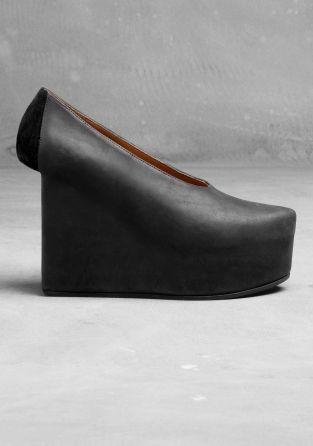 & Other Stories split heel pumps