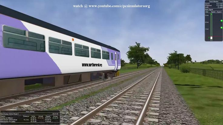 On the way to Manchester Airport with Open Rails