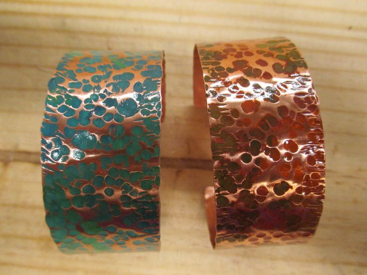 Hammer copper with permanent copper paint. Copper cuffs all sealed with a metal spray. Can be bought at  :: Girls Best Trends ::