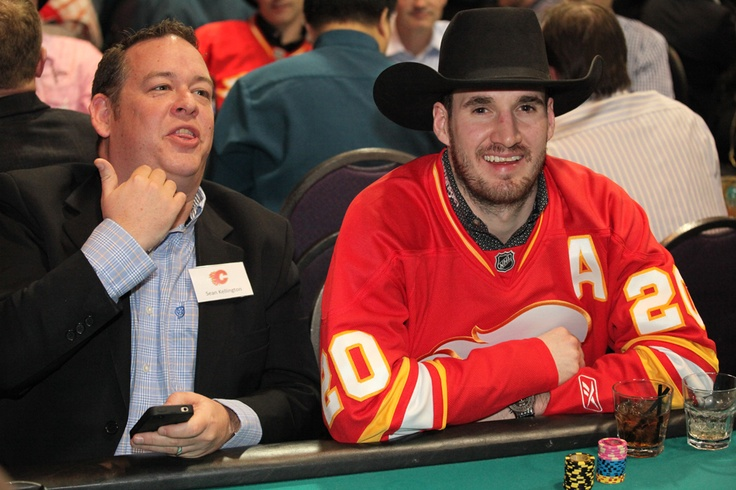 Curtis Glencross was all smiles at the 2013 Texas Hold 'Em Tournament!