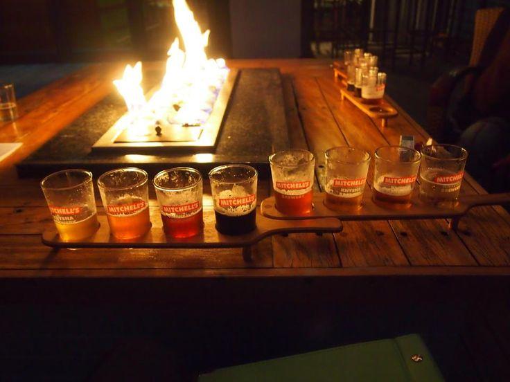 Beer tasting... locally brewed, 8 beers for ZAR35... bargain :)