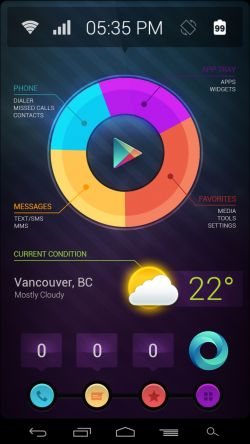Pie UI Revisited* Android Homescreen by cvdesignlab - MyColorscreen