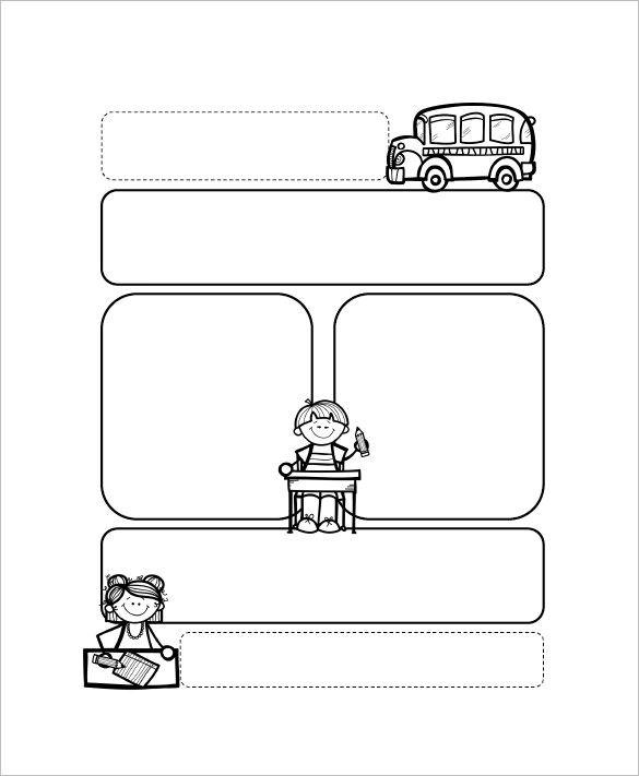 Kindergarten September Blank Newsletter Template