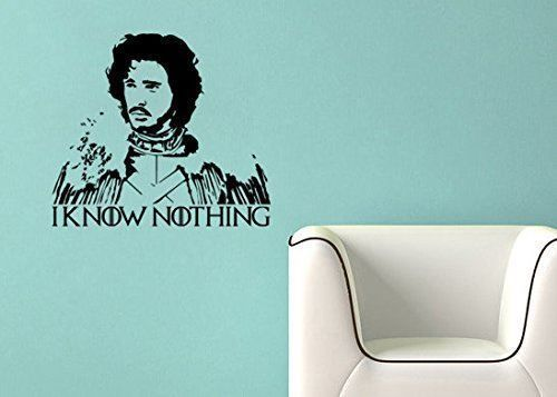 Game of Thrones Inspired Parody Jon Snow I know nothing Wall Decal Sticker #LuckyGirlDecals #beautiful #budget #custom #cute #decal #decals #decor #decorating #design #family #fun #gifts #graphics #happy #home #homedecor #interiordecorating #interiordesign #lettering #letters #love #luckygirldecals #oracal631 #personalized #pretty #quote #quotes #remarkablewalls #sticker #stickers #style #vinyl #vinyldecal #vinylfilm #vinylwalldecal #wall #wallart #walldecal #walldecor #wallquote #wallquotes…