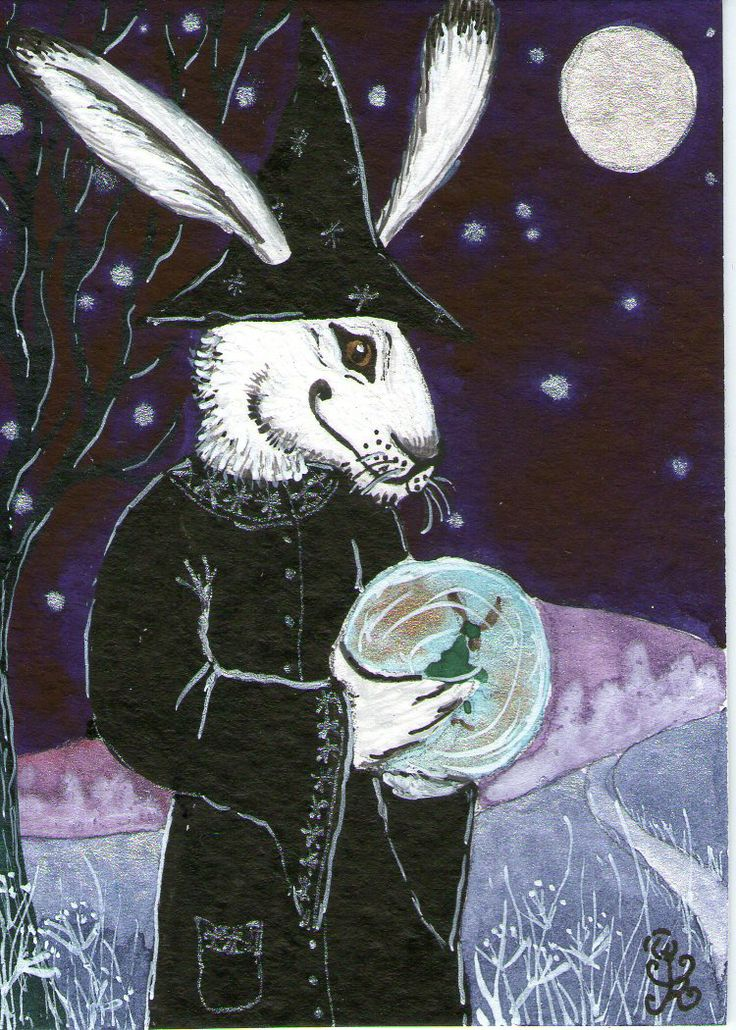 First appearance of Ursula, the tzorkliest ever white hare-witch from across the Icy Seas...Summer 2012.
