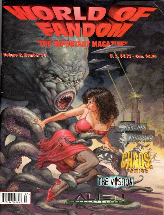 World of Fandom. Fall 1997. 116 Pages .Aliens Resurrection,James Dean, The Visitor, Starship Troopers, Beverly Garland,Betty Davis,Godzilla. by ArtisticSoulStudio on Etsy